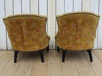 Pair of French Boudior Tub Armchairs for re-upholstery (6 of 8)