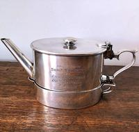 Unusual Indian Silver Plated Campaign Teapot c.1884