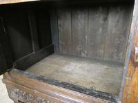 19th Century Carved Oak Cupboard / Dresser (8 of 16)