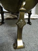 Arts & Crafts Brass Coal Bin (3 of 6)