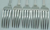 Set of Five Silver Dessert Forks, George Adams / Chawner & Co (4 of 6)