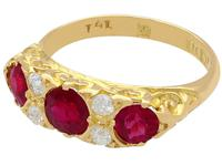 1.85ct Ruby & 0.20ct Diamond, 18ct Yellow Gold Dress Ring - 1923 (3 of 9)