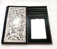 Antique Victorian Sterling Silver Desk Top Stationery Folder 1899 (4 of 9)
