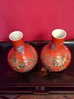 Pair of Chinese Red Oxide Five Claw Dragon Vases c.1900 (3 of 10)