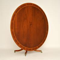 Antique Regency Style Inlaid Mahogany Tillman Dining Table (3 of 10)