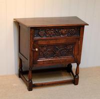 French Dark Oak Side Cabinet (3 of 10)