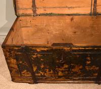 18th Century Pine & Iron Bound Trunk (3 of 7)