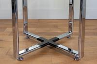 Pieff Glass Chrome Dining Table & 6 Chairs Late 1970s (9 of 14)