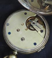 Antique Chronograph Pocket Watch Sweeping Stop Start Seconds Hand Swiss Made Key Wind. (6 of 8)