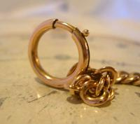 Antique Pocket Watch Chain 1890s French Victorian 14ct Rose Gold Filled Albert (8 of 12)