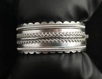 Antique Victorian Silver Bangle, Aesthetic Era, Boxed (16 of 17)
