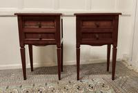 Pair of French Fruitwood Bedside Cabinets