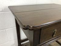 Antique Oak Side Table(m-2250) (4 of 9)