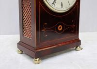 Regency Mahogany Inlaid Bracket Clock by Thwaites & Reed (4 of 8)