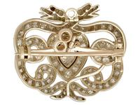 3.90ct Diamond & 9ct Yellow Gold Snake Brooch - Antique Victorian (6 of 10)