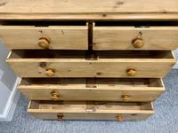 Antique Victorian Pine Chest of Drawers with Key (13 of 15)