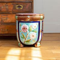 Late 19th Century Large Decorative Floor Standing Majolica Planter (5 of 12)