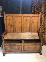 Mid 19th Century Pine Settle (4 of 7)