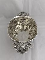 Victorian Antique Silver Fruit Bowl 1861 London William Stocker Sterling Bowl (9 of 11)