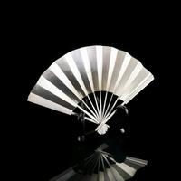 Vintage Japanese Solid Silver Fan Sensu/o-gi c.1960 (11 of 14)