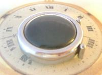 Vintage Smiths or Ingersoll Pocket Watch Case 1940s Original Chrome Bedside Case (10 of 11)