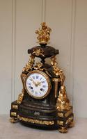 French Louis XVI Style Parcel-Gilt Bronze Mantel Clock (5 of 18)