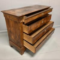 French Burr Walnut Commode Chest of Drawers (2 of 7)