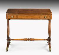 Regency Period Maple & Burr Maple Games Table (2 of 5)
