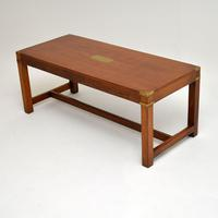 Antique  Mahogany Military Campaign Style Coffee Table (3 of 6)