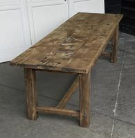Large Rustic French Oak Farmhouse Dining Table