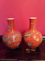 Pair of Chinese Red Oxide Five Claw Dragon Vases c.1900 (4 of 10)