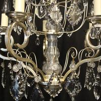 French Silver Gilded 5 Light Antique Chandelier (6 of 11)