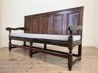 18th Century Panelled Oak Settle (8 of 10)