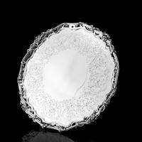 Exceptional Large Solid Sterling Silver Victorian Salver/tray/platter 47cm with Cast Border - Hunt & Roskell - Storr Mortimer & Hunt (26 of 29)