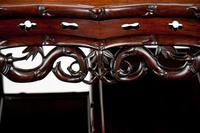 Fine 19th Century Chinese Huali Stand / Table with Alabaster Inserts (9 of 11)