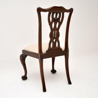 Set of 8 Antique Mahogany Chippendale Style Dining Chairs (3 of 12)
