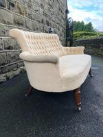 Antique English Upholstered Sofa (2 of 8)