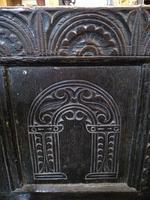 Elaborately Carved Oak Settle (3 of 7)