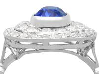 3.50 ct Ceylon Sapphire & 2.48ct Diamond, Platinum Dress Ring c.1935 (2 of 12)