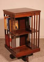 English Revolving Bookcase in Mahogany & Inlays (5 of 10)