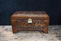 Oriental Carved Camphor Wood Chest c.1910 (2 of 12)