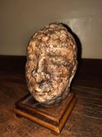 5th-12th Century Extremely Rare Early Gandharan Carved Quartz Crystal Buddhist Head