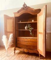 French Armoire / French Walnut Wardrobe (2 of 8)