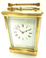 Good Antique French 8-day Repeat Carriage Clock Bevelled Case with Enamel Dial Gong Striking (15 of 15)