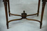 Antique French Walnut & Marble Table (4 of 8)