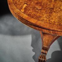 Fine Regency Burr Oak Tilt Top Table (3 of 8)