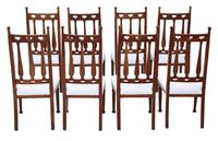 Set of 8  Mahogany Art Nouveau Dining Chairs C1910 (2 of 6)
