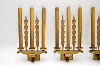 Set of 5 Antique Neo-Classical Brass Wall Sconce Lights (4 of 12)