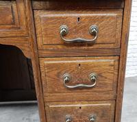 Oak Pedestal Desk (6 of 9)
