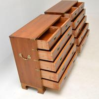 Pair of Yew Wood Military Campaign Style Chests (9 of 14)